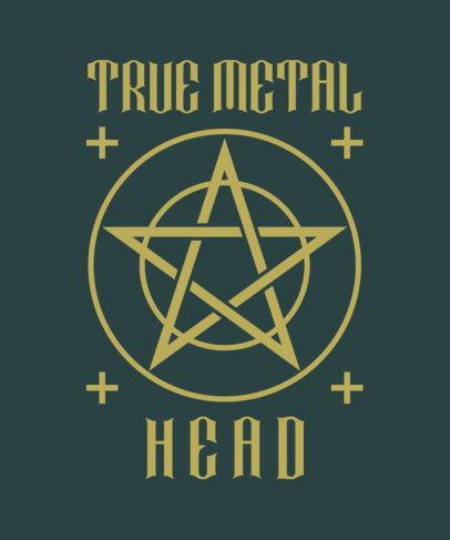 T-Shirt Design Maker for Metalheads Featuring a Pentagram 4040f