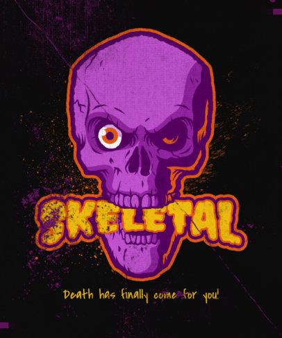T-Shirt Design Generator with a Horrific Skull Graphic 4634c