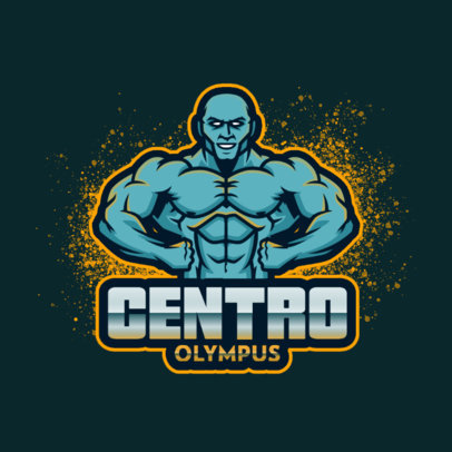 Gym Logo Generator Featuring a Mister Olympia-Inspired Character 4628b