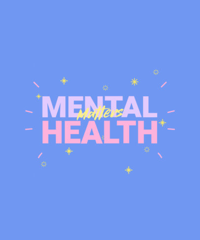 Mental-Health T-Shirt Design Template with Doodle Graphics 2957p-4002