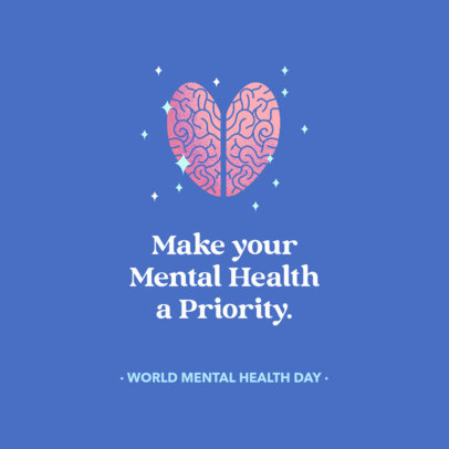 Instagram Post Template for the World Mental Health Day 2961h-4002