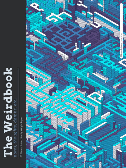 Notebook Cover Creator Featuring Patterns with Isometric Organic Shapes 4394-el1