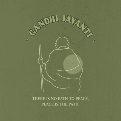 Instagram Post Generator with a Quote by Mahatma Gandhi 3924i-4075