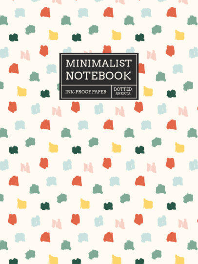 Notebook Cover Template Featuring a Pattern of Marker Dots 4380d-el1