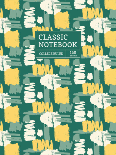Notebook Cover Creator Featuring a Marker Stains Pattern 4380f-el1