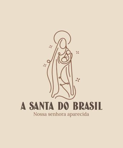 T-Shirt Design Maker with a Nossa Senhora Aparecida Quote and an Abstract Graphic 4067e