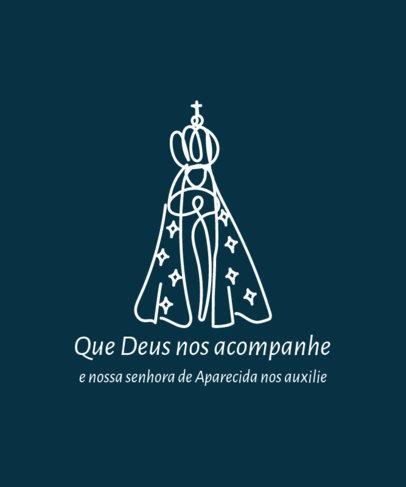 Nossa Senhora Aparecida T-Shirt Design Creator for a Devote Religious Believer 4067f