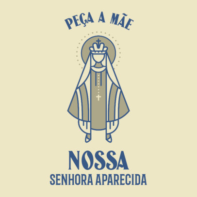 Facebook Post Maker Featuring a Prayer for Our Lady of Conception Aparecida 4065i