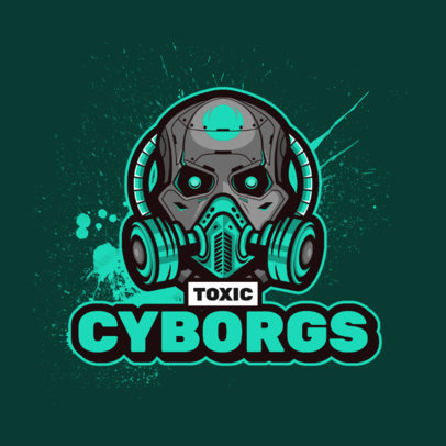 Gaming Logo Template with a Graphic of a Cyborg Skull 4402f-el1