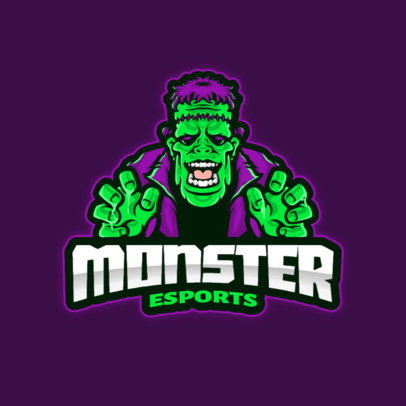 Online Logo Creator for an eSports Channel with a Frankenstein Graphic 4406a-el1