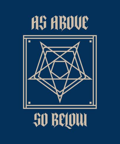 T-Shirt Design Maker Featuring a Pentagram Graphic 4040a