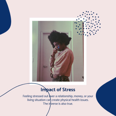 Mental Health-Themed Instagram Post Maker About the Impact of Stress 4422d-el1