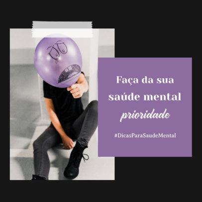 Instagram Post Design Template With Mental-Health Tips 4416e-el1