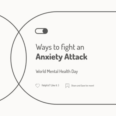 Instagram Post Generator Featuring Ways to Fight an Anxiety Attack 4408e-el1