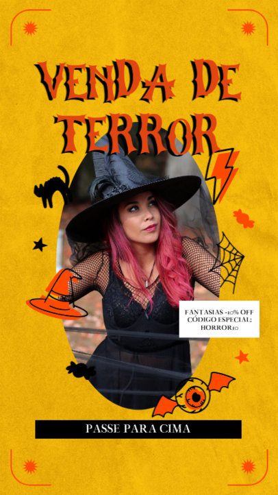 Facebook Story Generator with a Bewitching Frame for a Halloween Sale 4082d