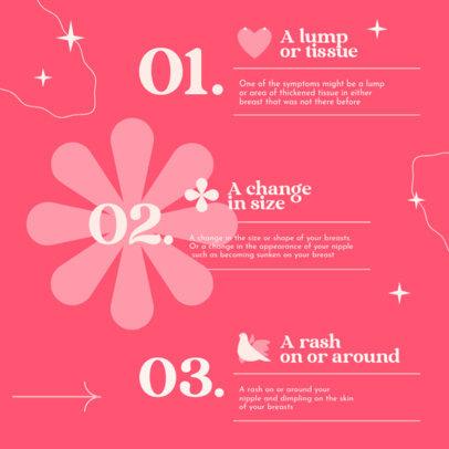 Breast Cancer Awareness-Allusive Instagram Post Design Maker for a Carousel 4063b