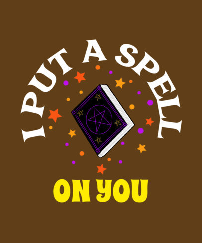 T-Shirt Design Generator Featuring a Spellbook Graphic and a Quote 4078c