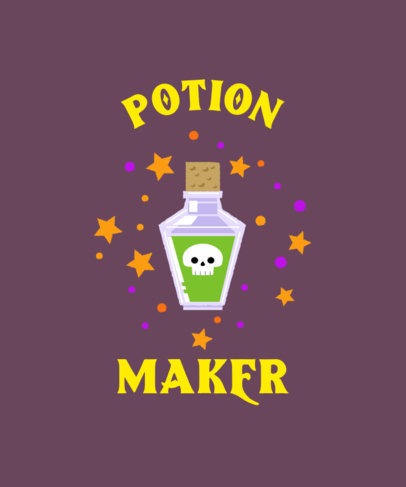 Halloween T-Shirt Design Creator Featuring a Potion Bottle Graphic 4078f