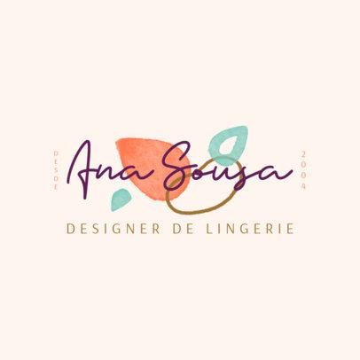 Abstract Logo Generator for a Designer Lingerie Brand 4661c
