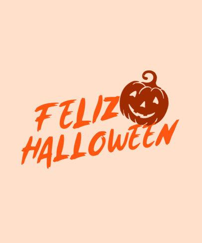 Halloween-Themed T-Shirt Design Maker Featuring a Pumpkin Silhouette 4077c