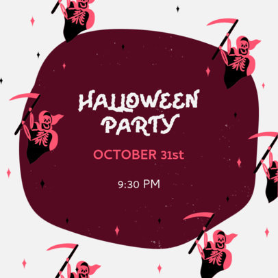 Instagram Post Maker for an Online Halloween Party Invitation 4080b