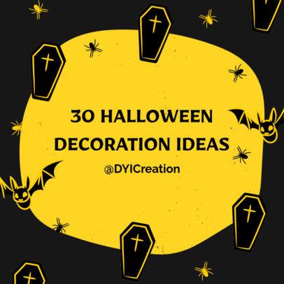 Instagram Post Maker for Halloween Decoration Ideas 4080d