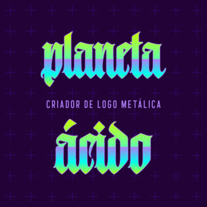 Logo Maker for an Acid Music Group Featuring a Gothic Typography 4666a