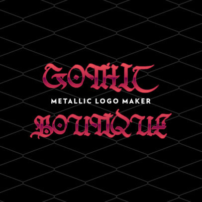Clothing Store Logo Creator Featuring a Gothic-Style Typography 4666f