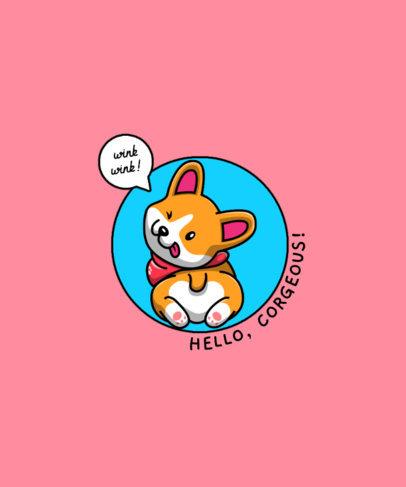 Fun T-Shirt Design Template Featuring Puppies with Speech Balloons 4441-el1