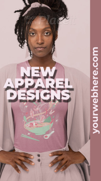 Instagram Story Video Template with Bold Text for a New Apparel Collection 2441b 4116-el1