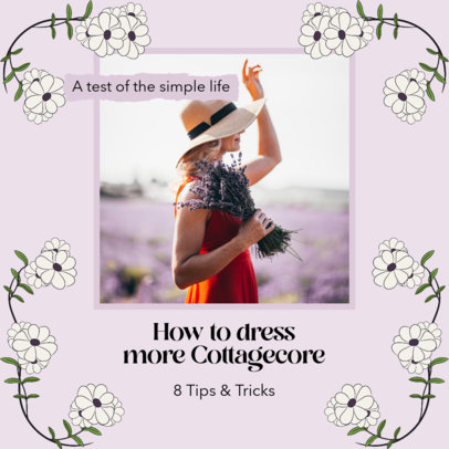 Instagram Post Maker Featuring Cottagecore Fashion Tips 4100