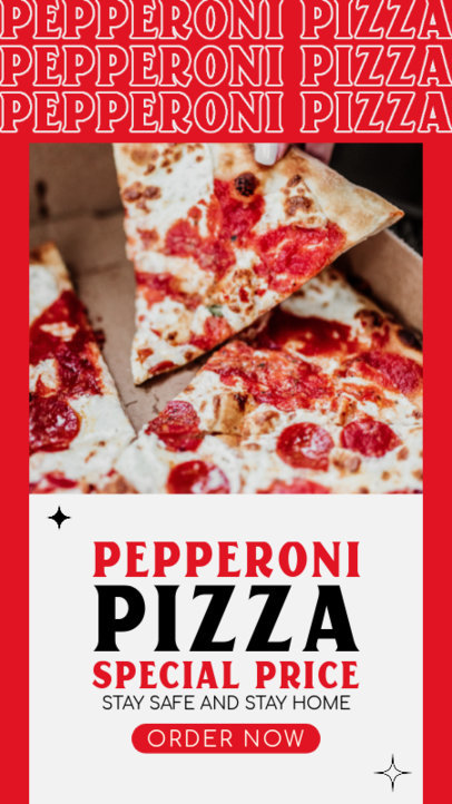 Instagram Story Template to Announce Pizza Delivery Deals 4447d-el1