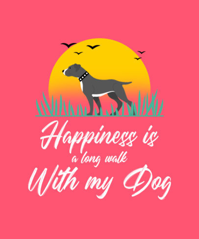 T-Shirt Design Generator for Dog Owners Featuring a Pit Bull Clipart 4443f-el1