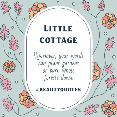 Instagram Post Generator Featuring a Cottagecore Aesthetic for a Sweet Quote 4101d