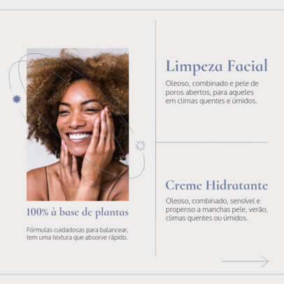 Beauty-Themed Instagram Post Creator for a Self-Care Tips Carrousel 4096a