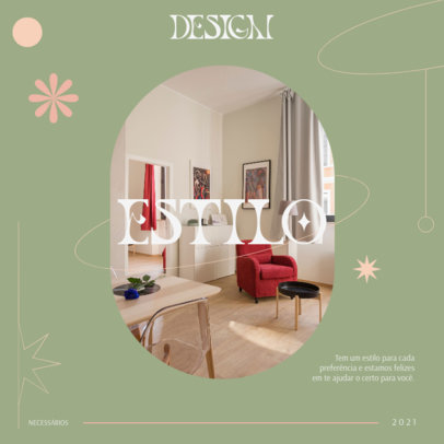 Interior Design-Themed Instagram Post Creator with a Classy Layout 4095b
