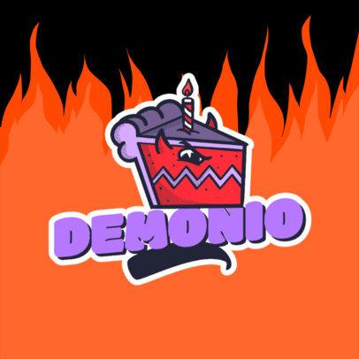 Retro Logo Maker Featuring a Cartoonish Pie Slice Character 4680k
