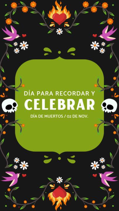 Festive Instagram Story Creator with a Dia de Muertos-Themed Frame 4107h