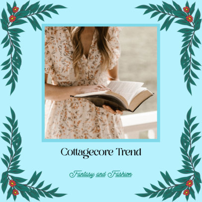 Instagram Post Maker for Fashion Tips Featuring a Cottagecore Aesthetic 4100d