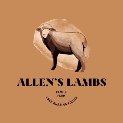 Organic Products Logo Creator for a Lambs Farm 4683g