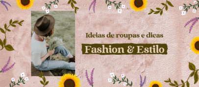 Facebook Cover Template for a Fashion Blog Featuring a Cottagecore Aesthetic 4097d