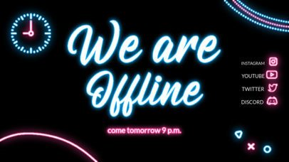Neon-Themed Twitch Offline Banner Template for a Chatting Stream 4469-el1