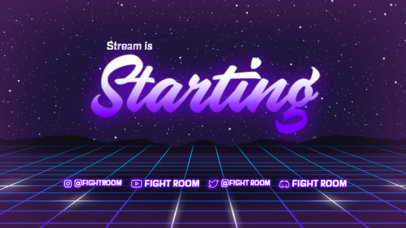 Twitch Starting Soon Screen Template for a Sports-Themed Talk Show 4457-el1