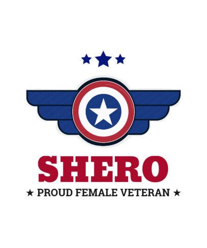 Patriotic T-Shirt Design Maker to Commemorate Female Veterans 1812i-4010