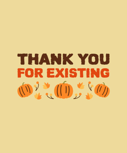 T-Shirt Design Generator with a Grateful Quote for Thanksgiving 4124b