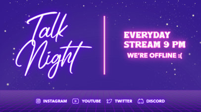 Twitch Offline Banner Design Template for Just Chatting Streamers 4473-el1