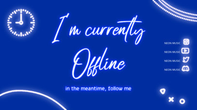 Neon-Colored Twitch Offline Banner Creator for a Music Streamer 4469b-el1