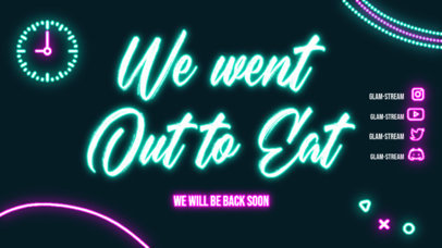 Twitch Offline Banner Generator with Glam Glowing Colors 4469c-el1