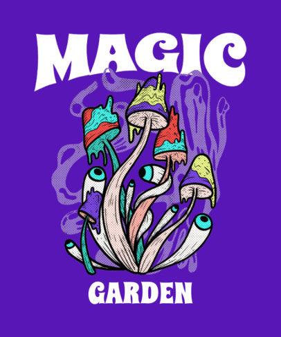 T-Shirt Design Maker Featuring Illustrated Hallucinogen Mushrooms 4121e