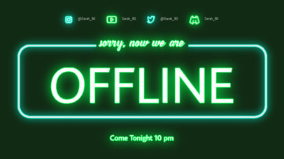 Offline Banner Generator Featuring Neon Fonts and Graphics 4465b-el1